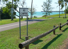 No Camping at East Point reserve