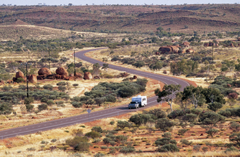 Darwin to Alice Springs on the Stuart Highway with a Darwin 4wd camper self drive hire